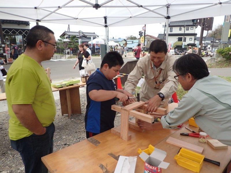 Image of 松前城下マグロ祭での木育活動について 1